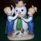 HOMCO: Denim Days - OUR SNOWMAN #1508 - c1985 Debbie & Danny