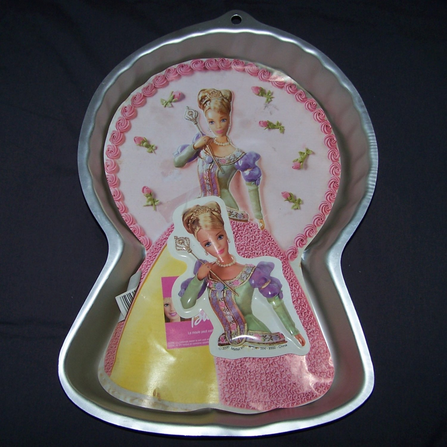 Wilton 2105-8900 BARBIE Cake Pan Mold with FACE PLATE & Instructions 2000 Mattel