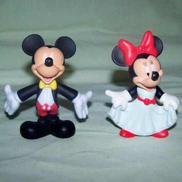 "Disney Mickey & Minnie Mouse Toy PVC Figurines 3"" Cake Topper McDonalds"