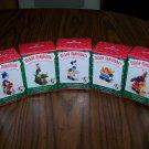 New Hallmark Merry Miniatures Set Of 5 Mickey Express Disney Train 1998