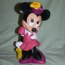 "11"" VINTAGE WALT DISNEY WORLD ILLCO MINNIE MOUSE RUBBER COIN MONEY BANK HTF OLD"
