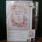 Cross Stitch Kit ~ Two Hearts One Love Wedding Record NIP