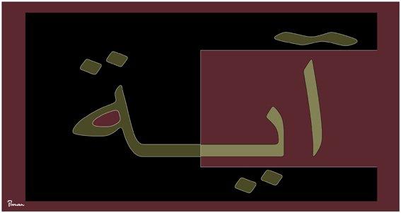 Aaya Written in Arabic 07