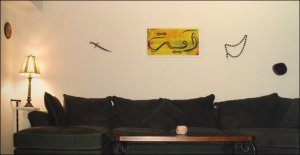 """Example of Lustre Photo Poster 20 x 30"""" on the wall (Aaya Written in Arabic)"""