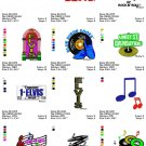 ELVIS PRESLEY (3) - 12 EMBROIDERY DESIGNS
