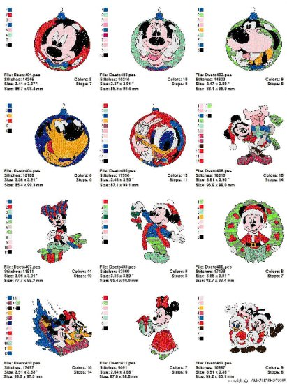 DISNEY CHRISTMAS (2) - 20 EMBROIDERY DESIGNS