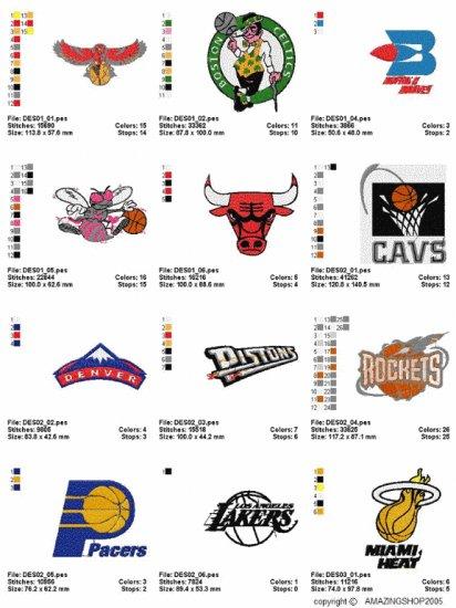 NBA LOGO (1) - 23 EMBROIDERY DESIGNS