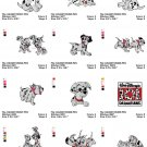 101 DALMATIANS - 18 EMBROIDERY DESIGNS