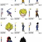DRAGON BALL - 11 EMBROIDERY DESIGNS
