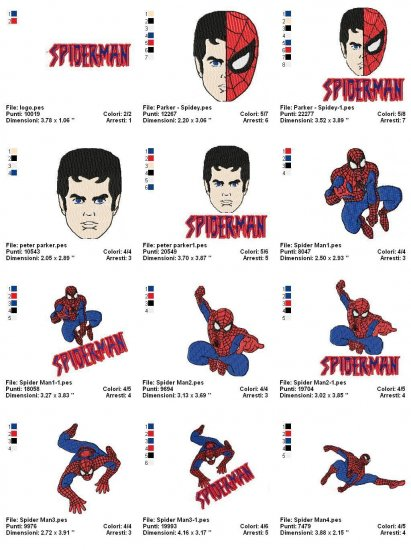 NEW SPIDERMAN - 23 EMBROIDERY DESIGNS