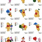 WINNIE THE POOH - 1  - 24 EMBROIDERY DESIGNS