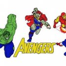 THE AVENGERS - 7 Embroidery Designs