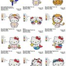 HELLO KITTY ZODIAC - 12 EMBROIDERY DESIGNS