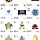 STAR TREK LOGO (1) - 14 EMBROIDERY DESIGNS