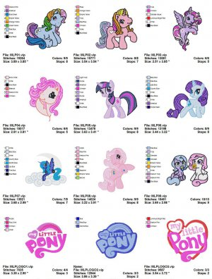 MY LITTLE PONY - 12 EMBROIDERY DESIGNS