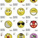 SMILEYS ICONS (1) - 12 EMBROIDERY DESIGNS