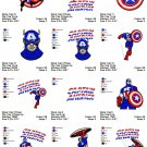 CAPTAIN AMERICA (2) - 12 EMBROIDERY DESIGNS