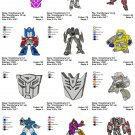 TRANSFORMERS (2) - 12 EMBROIDERY DESIGNS