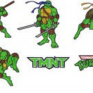 NINJA TURTLES (1) - 6 EMBROIDERY DESIGNS
