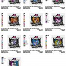 MONSTER HIGH  - 10 EMBROIDERY DESIGNS