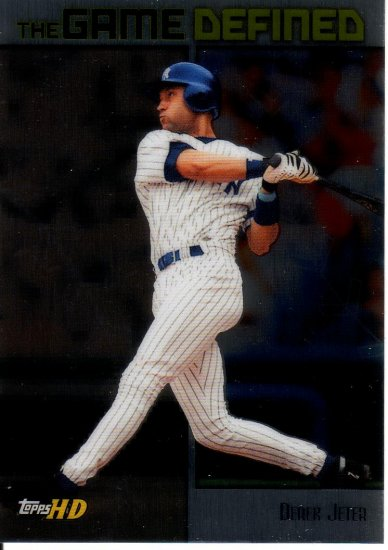DEREK JETER 2001 TOPPS HD GAME DEFINED ALUMINUM #GD2 NEW YORK YANKEES