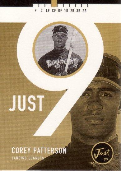 COREY PATTERSON 1999 JUST 9 IMAGINE #J9-I7 ROOKIE LANSING LUGNUTS