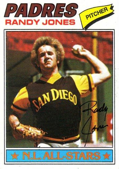 RANDY JONES 1977 TOPPS #550 SAN DIEGO PADRES