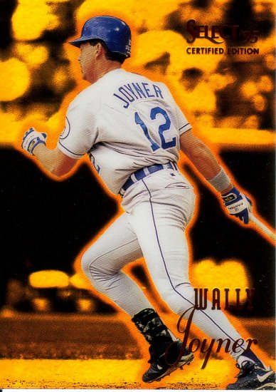 WALLY JOYNER 1995 SELECT CERTIFIED MIRROR GOLD #29 KANSAS CITY ROYALS