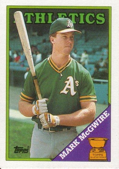 MARK McGWIRE 1988 TOPPS #580 OAKLAND ATHLETICS