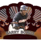 BARRY BONDS 2000 CROWN ROYALE #123 DIE-CUT SAN FRANCISCO GIANTS