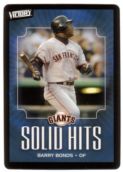 BARRY BONDS 2003 VICTORY #104 SAN FRANCISCO GIANTS
