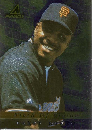 BARRY BONDS 1998 PINNACLE PLUS #200 SAN FRANCISCO GIANTS