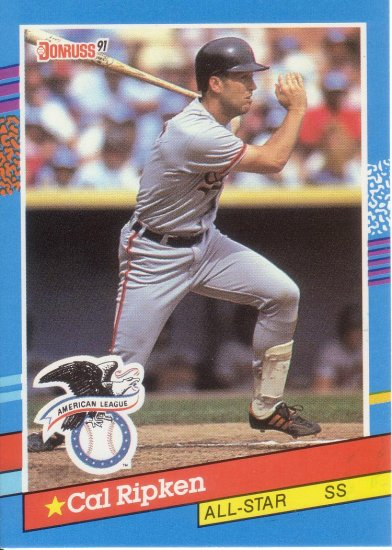 CAL RIPKEN JR. 1991 DONRUSS #52 BALTIMORE ORIOLES