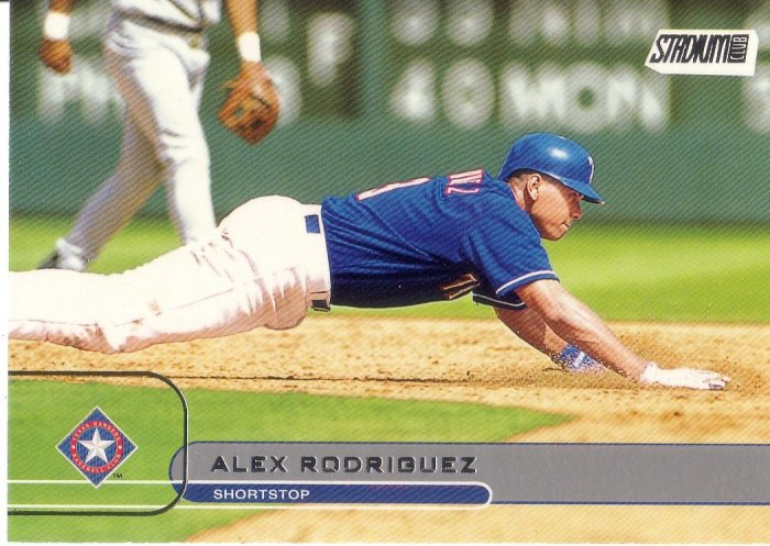ALEX RODRIGUEZ 2002 STADIUM CLUB #7 TEXAS RANGERS