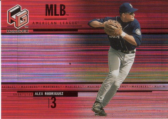 ALEX RODRIGUEZ 2000 HoloGrFX #44 SEATTLE MARINERS