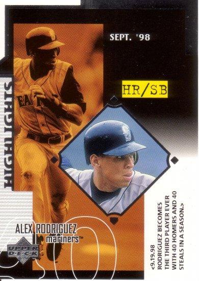 ALEX RODRIGUEZ 1999 UPPER DECK #534 SEATTLE MARINERS