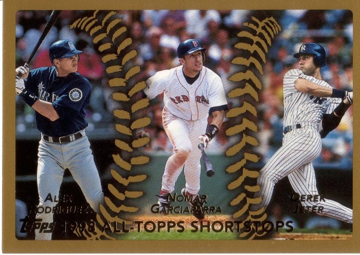 RODRIGUEZ / GARCIAPARRA / JETER 1999 TOPPS #452 MARINERS / RED SOX / YANKEES