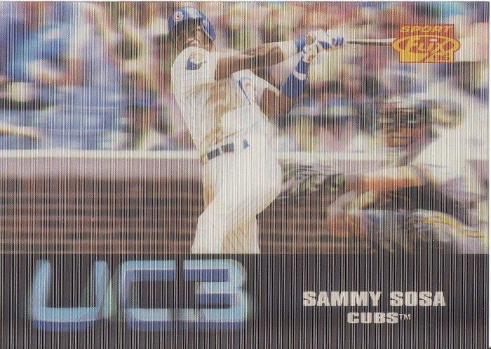 SAMMY SOSA 1996 SPORT FLIX UC3 #104 CHICAGO CUBS
