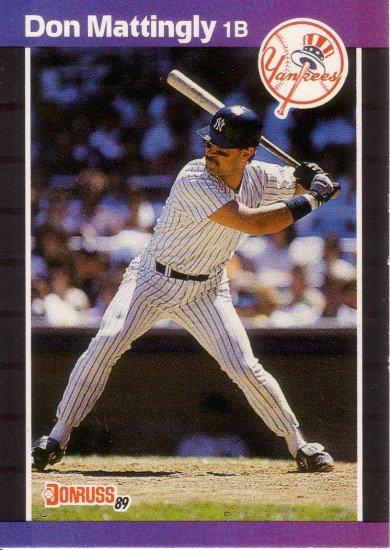 DON MATTINGLY 1989 DONRUSS #74 NEW YORK YANKEES