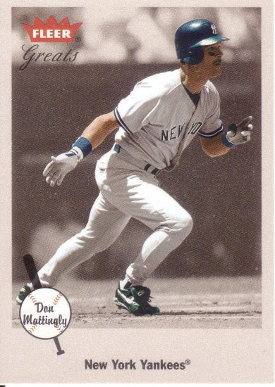 DON MATTINGLY 2002 GREATS OF THE GAME #74 NEW YORK YANKEES