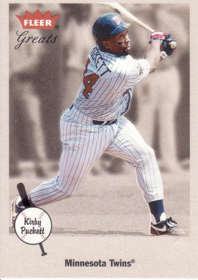 KIRBY PUCKETT 2002 GREATS OF THE GAME #96 MINNESOTA TWINS