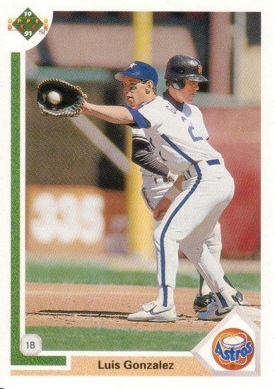 LUIS GONZALEZ 1991 UPPER DECK #567 ROOKIE HOUSTON ASTROS