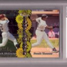 MARK McGWIRE / FRANK THOMAS 1999 FINEST COMPLIMENTS #C6 DUAL REFRACTOR BECKETT 8.5 NM-MT+