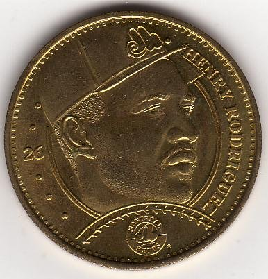HENRY RODRIGUEZ 1997 PINNACLE MINT BRASS COIN #26 MONTEREAL EXPOS