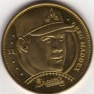 GREG MADDUX 1997 PINNACLE MINT BRASS COIN #11 ATLANTA BRAVES