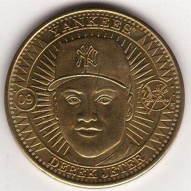 DEREK JETER 1998 PINNACLE MINT BRASS COIN #09 NEW YORK YANKEES