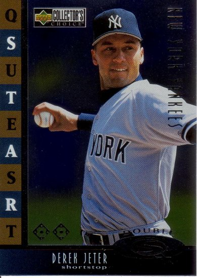 DEREK JETER 1998 COLLECTOR'S CHOICE STARQUEST DOUBLE #6 NEW YORK YANKEES