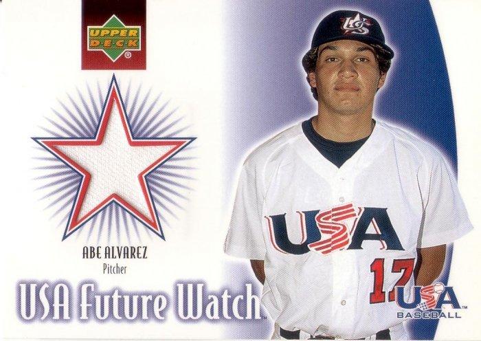 ABE ALVAREZ 2002 UD ROOKIE UPDATE USA FUTURE WATCH JERSEY #US-AA UNITED STATES