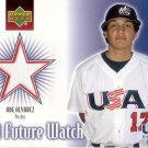 ABE ALVAREZ 2002 UD ROOKIE UPDATE USA FUTURE WATCH JERSEY #US-AA UNITED STATES