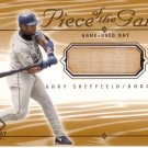 GARY SHEFFIELD 2001 SP GAME BAT EDITION PIECE OF THE GAME #GS LOS ANGELES DODGERS